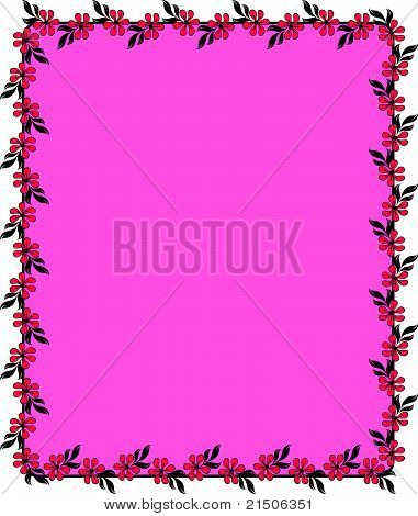 Background with beautiful flowers. Vector
