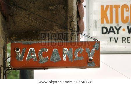 Vacancy Zeichen