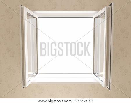 Opened Plastic Window