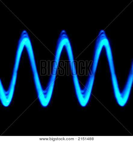 Blue Sine Wave