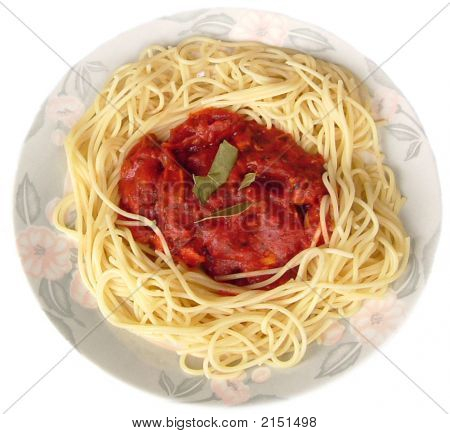 Isolated Spaghetti Bolognese