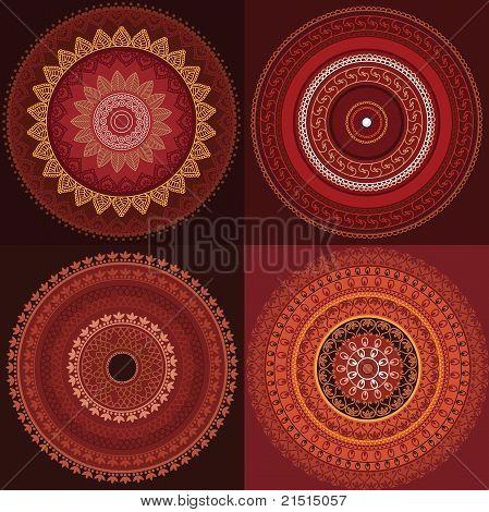 bunte Henna Mandala-design