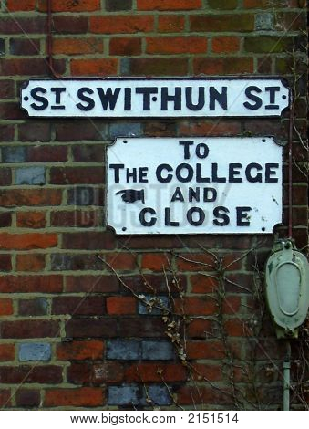 St Swithun Street, To The College And Close