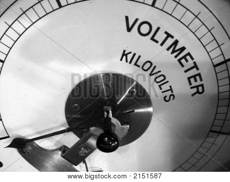 Old Voltmeter Measuring In Kilovolts