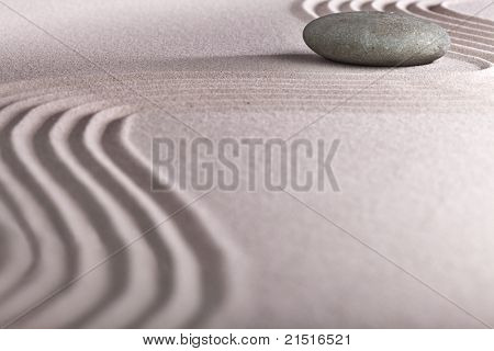 meditation zen garden japanese garden zen stone with raked sand and round stone tranquility and balance ripples sand pattern