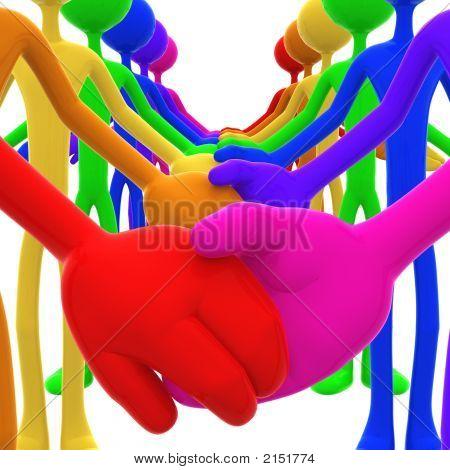 Full Spectrum Unity Holding Hands