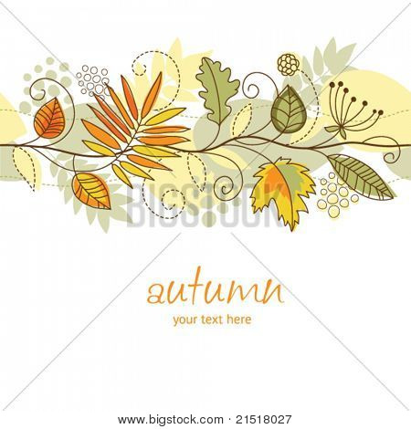 horizontal autumn background