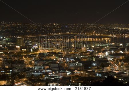 Auckland New Zealand Harbour Bridge At Night