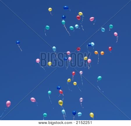 Baloons In Sky