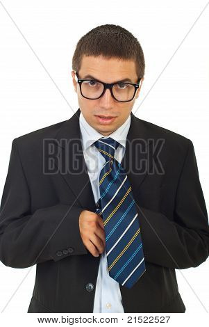 Funny Businessman With Eyeglasses