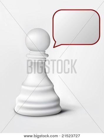 Speach of Chess Pawn