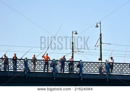 Galata Bridge fishers