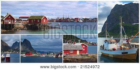 Collage of Reine, Lofoten, Norway