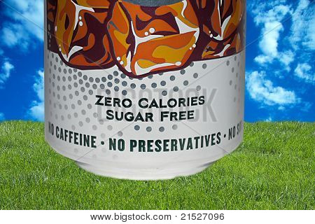 Zero Calories Label On A Can