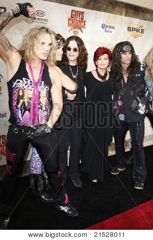 LOS ANGELES - JUN 5: Ozzy Osbourne, Sharon Osbourne and Steel Panther at the Spike TV's 4th Annual