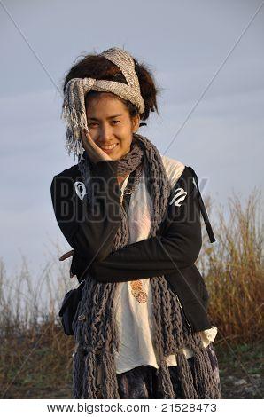 Belo estilo mulheres cabelo Dreadlock Ásia Pretty