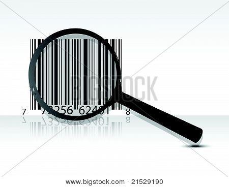 diseño de ilustración de código upc de la exploración sobre un fondo gris claro