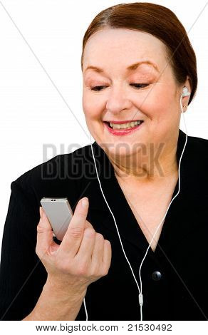 Close-up Of A Woman Listening Mp3