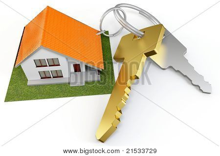 3D House With Keys