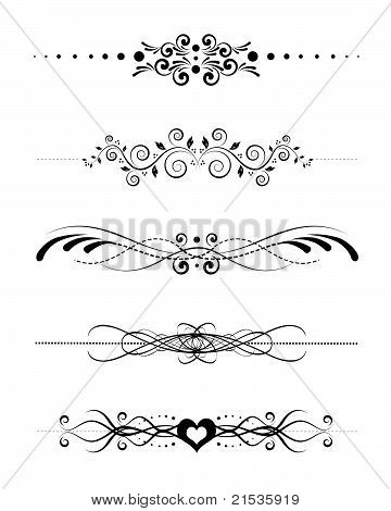 Vector  Decorative Separator Designs