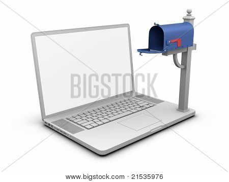 Laptop - Empty Mailbox