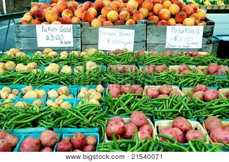Farm Market Fruits And Vegetables