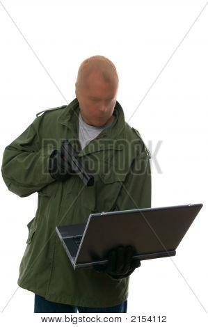Ladrão de banco na Internet.