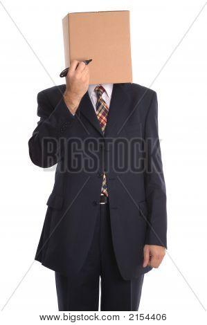 Hombre de la caja - dibujar una cara.