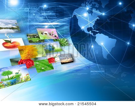 Television and internet production technology concept . Best Internet Concept of global business from concepts series