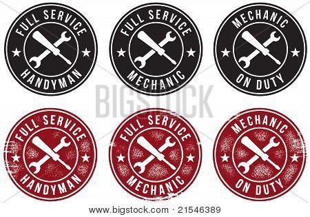 Mechanic Handyman Signs/Stamps
