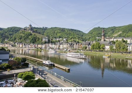 The town of Cochem on the Mosel