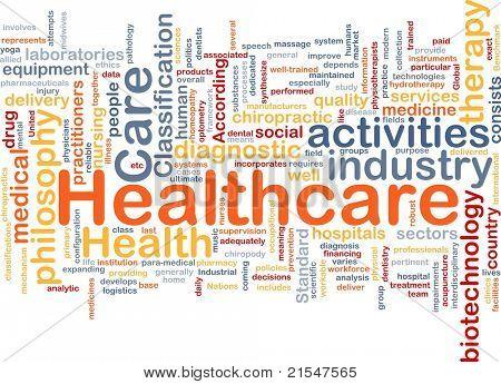 Hintergrund Konzept Wordcloud Abbildung des Gesundheitswesens