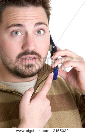 Surprised Phone Man
