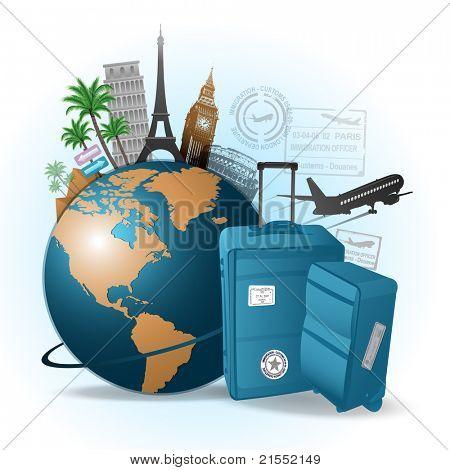 Reisen Sie um die Welt-Hintergrund