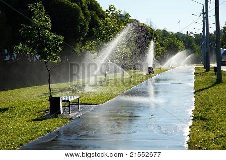 street shower fountain