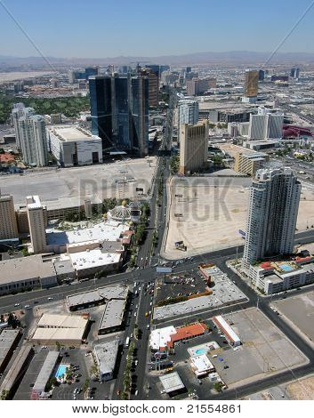 Aerial View Of Las Vegas Boulevard North, Nevada