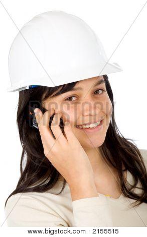 Female Architect On The Phone