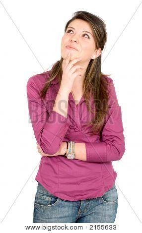 Casual Pensive Girl