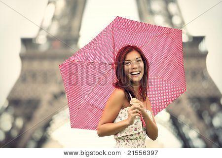 Paris Eiffel Tower Woman