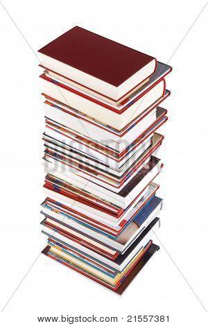 High Books Stack