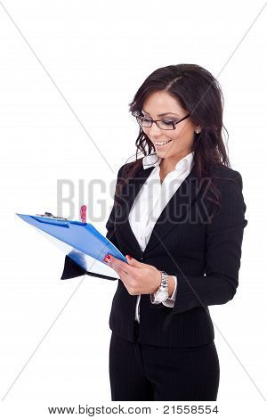 Young Female Entrepreneur Taking Notes