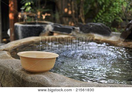 Japanese open air hot spa