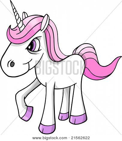 Mad crazy angry Unicorn Pony horse Vector Illustration