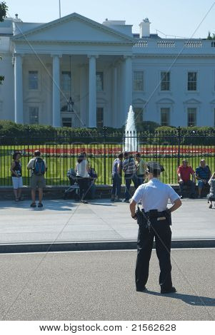 Washington D.c., White House - September 22: The White House On September 22, 2010. The Secret Servi