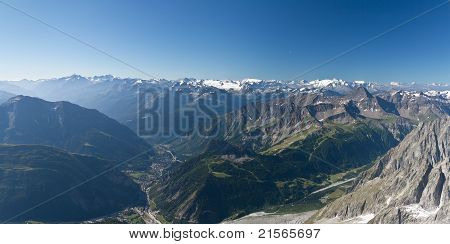 Aosta Valley From Mont Blanc