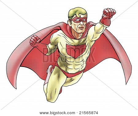 Superhero Comicbook Style Illustration