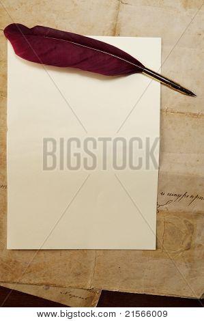 Concepto de carta Vintage