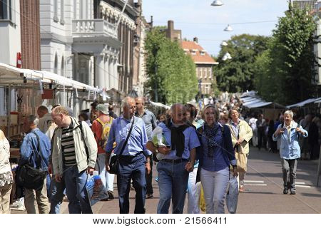 People Visiting The Second Hand Book Market