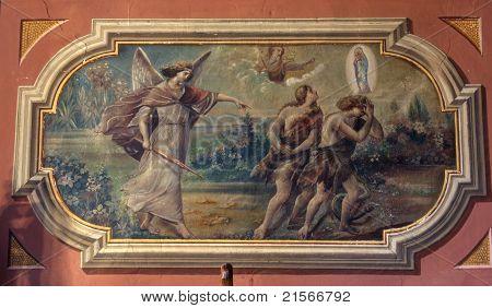Adán y Eva, la expulsión del paraíso