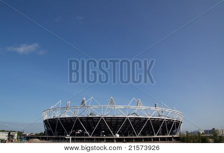 LONDON - MAY 31: The 2012 London Olympic stadium nears completion in Stratford London on May 31, 2011. The Stadium will have a capacity of 80,000 during the 2012 Olympic Games.